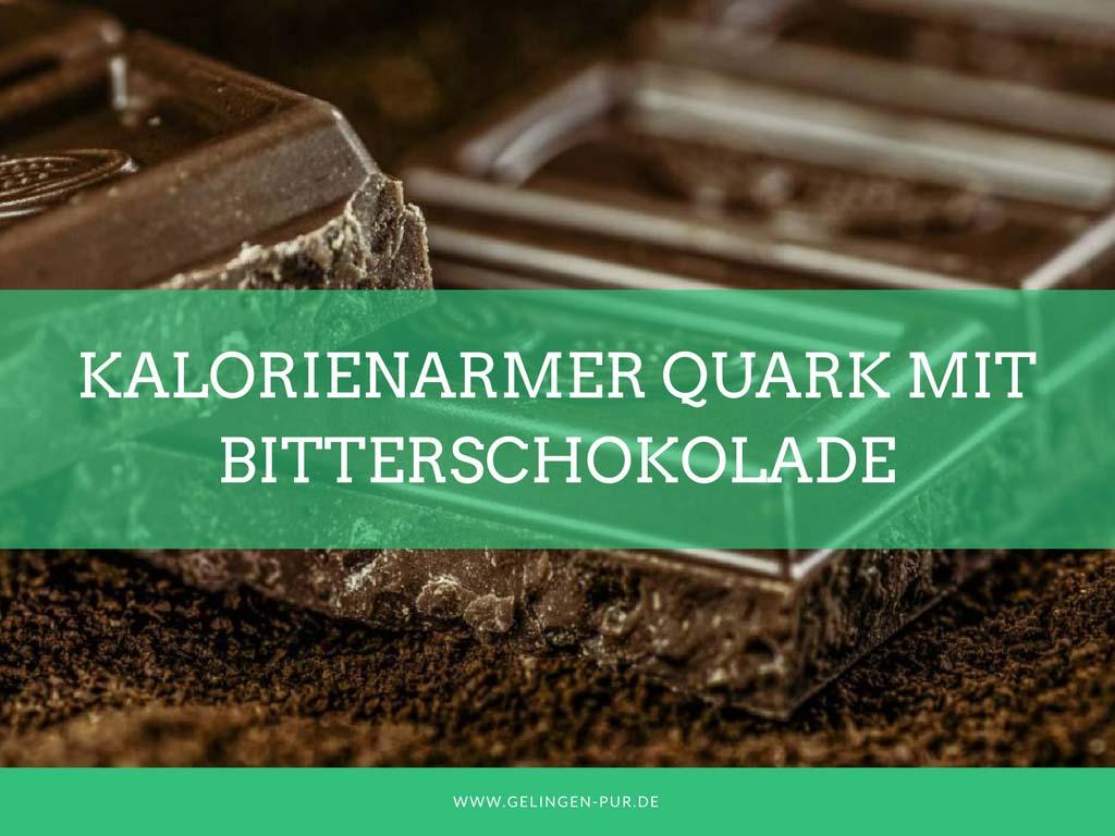 Kalorienarmer Quark mit köstlicher Bitterschokolade